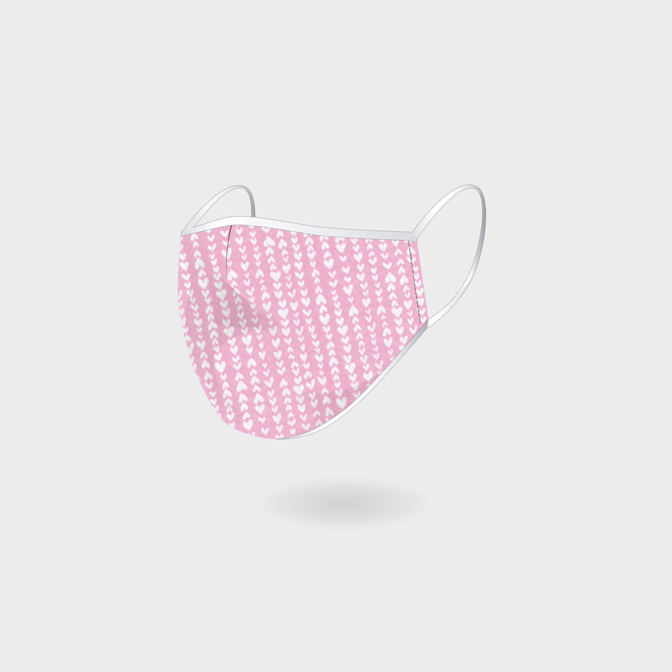 KIDS MASK PINK HEART